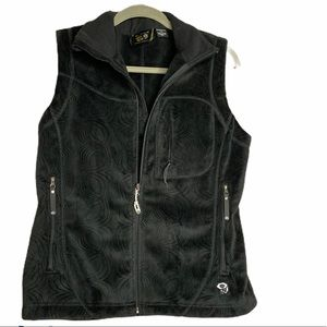 Mountain Hardware Vest Medium Black Fleece Zip Up